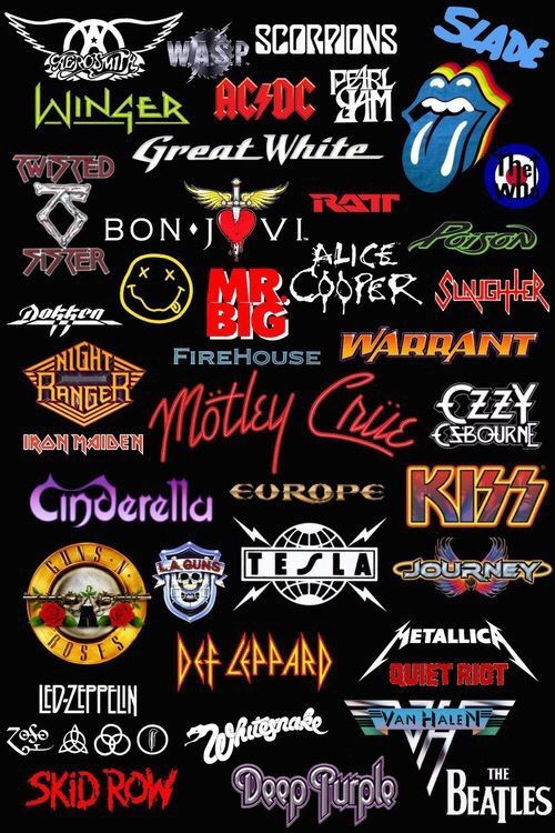 All About Me In 2020 Rock Band Posters Music Collage Metal Band Logos
