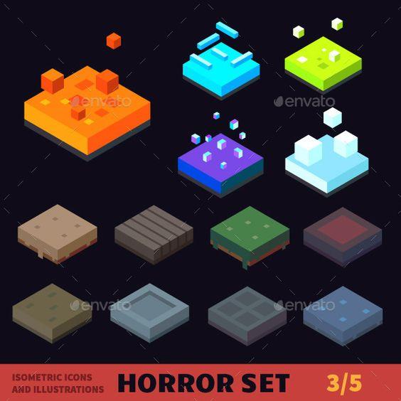 Isometric  Horror Vector Tile Set. Download here: https://graphicriver.net/item/isometric-horror-vector-tile-set/13010051?ref=ksioks