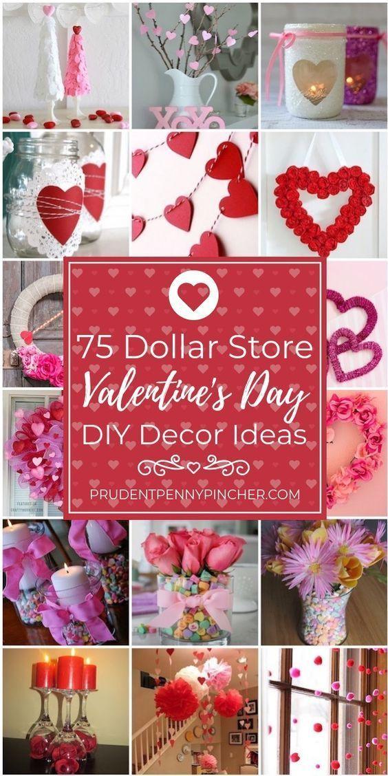 75 Dollar Store Valentine S Day Decor Ideas Valentine Decorations Valentine S Day Diy Valentines Day Decorations
