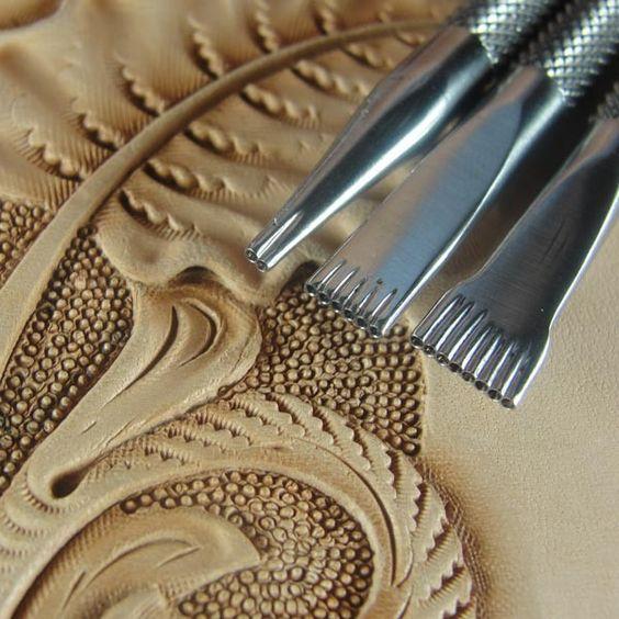 Hackbarth steel leather stamping tools bar grounder set