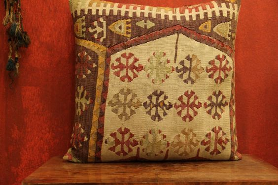 24 x 24 Throw Pillow Decorative Pillow Accent by kilimwarehouse, $87.00