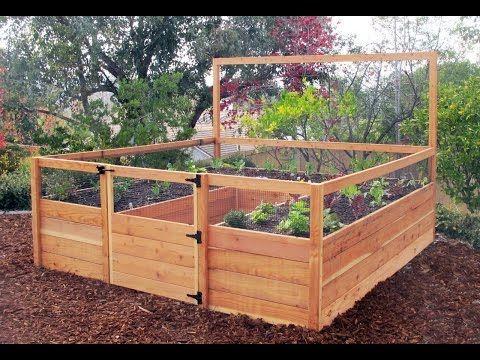 2 Diy Raised Garden Beds Build Raised Garden Bed Against Fence