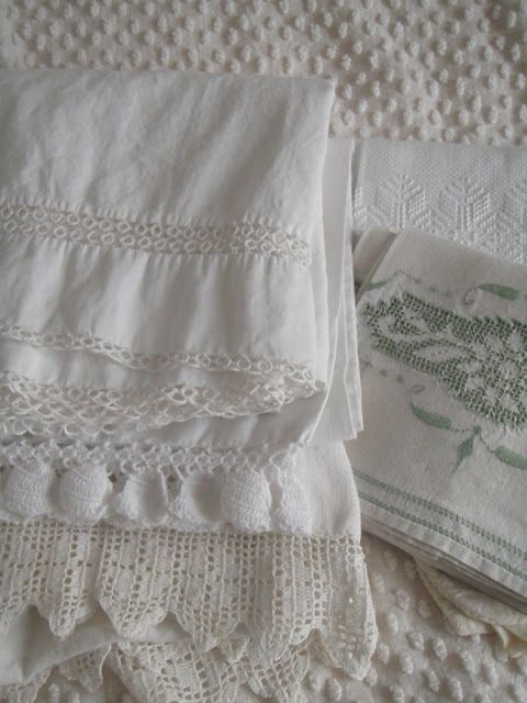 ". . . Cabin & Cottage : Lessons in Linens: The ""Before"""