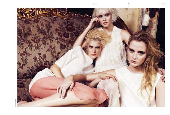 Sirens | Ali, Emily Steel, and Hannah Hardy | Patrick Lindblom #photography | Used Magazine 2 S/S 2012