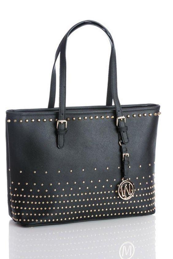 "L 11"" x W 15""   Ellie by Free Love Boutique. Bags - Black Handbags Delray Beach, Florida"