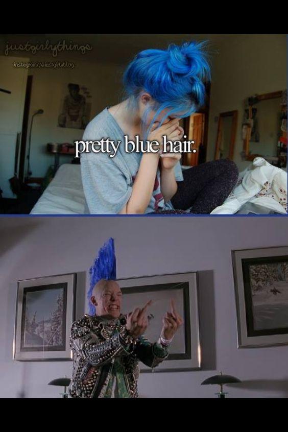 Blue hair! SLC punks yay!