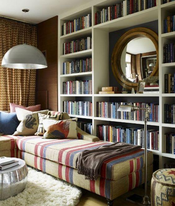 Ideia para biblioteca em casa.: