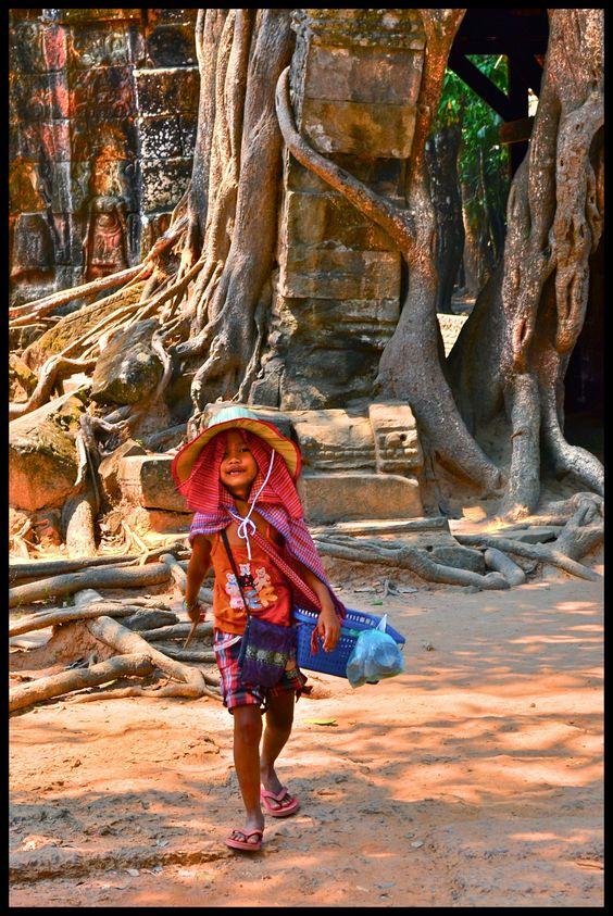 Postcard Seller . Siem Reap . Cambodia