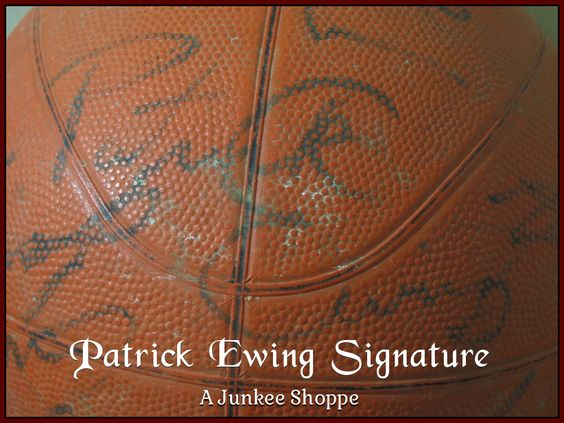 AUTOGRAPHED Basketball Star Signed Through The Decades Not Authenticated Patrick Ewing  Junk 957  http://ajunkeeshoppe.blogspot.com/