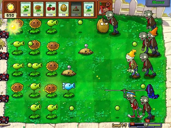Plants vs Zombies Video Game Screenshots