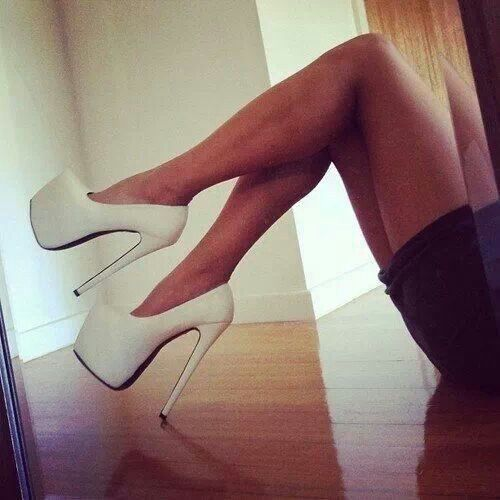 White platform stiletto pumps | Heels Baby! | Pinterest | Heels ...