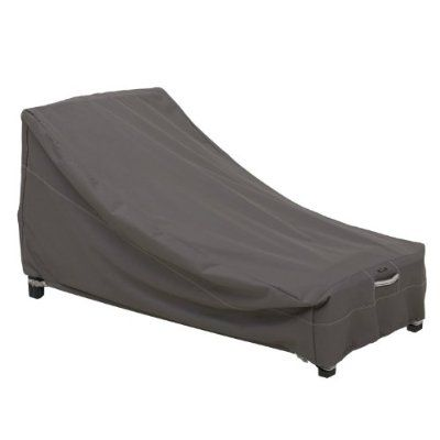 Classic Accessories Ravenna Patio Day Chaise Cover, Medium, Taupe