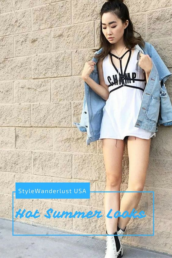 Add a cage bra harness to spice up you summer look!