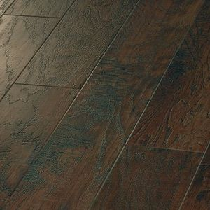 Hand Crafted Wood Hickory Paprika Vinyl Flooring That