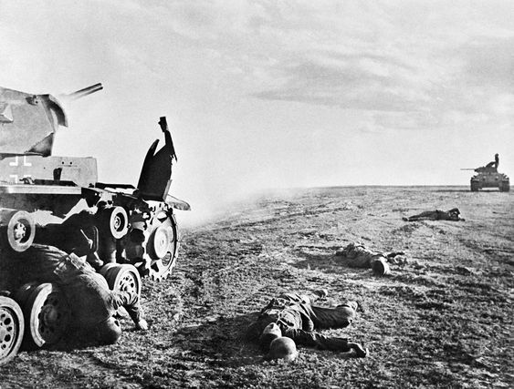 Killed German tankers near Stalingrad, Russia, 17 Jun 1942 Photographer Georgi Zelma Source Russian International News Agency