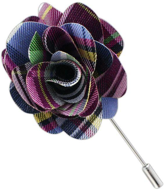 DANBURY PLAID LAPEL-FLOWERS - FUCHSIA | Ties, Bow Ties, and Pocket Squares | The Tie Bar