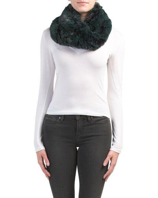 Aspen Maui Faux Fur Twisted Snood Emerald Black Nwt Aspen Snood Snood Maui Winter Fashion