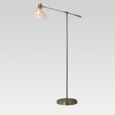 With The Crosby Glass Shade Floor Lamp From Threshold There S No
