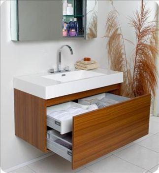 Fresca Mezzo Teak Modern Bath Vanity W Medicine Cabinet Modernbathroomornaments Teak Bathroom Vanity Cheap Bathroom Vanities Teak Bathroom