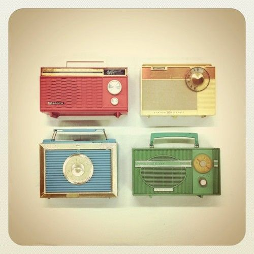 vintage radios... just barely, but I do remember there were a few of these around when I was very small.