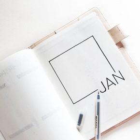 Idée de page mensuelle minimaliste