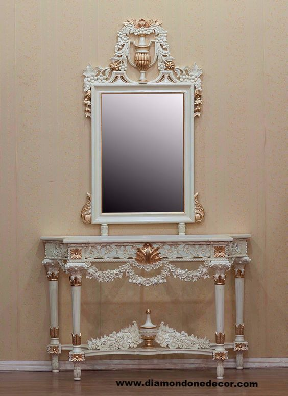 Baroque louis xvi and french on pinterest for Baroque reproduction furniture