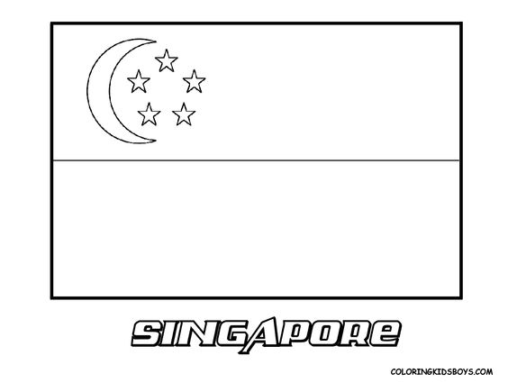 Grand Flag Coloring Pictures Flags Of Saint Kitts Syria World Flags Free Singapore National Day Flag Drawing Singapore Flag