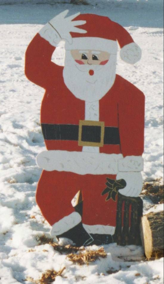 Made this Santa 10 years ago out of old plywood