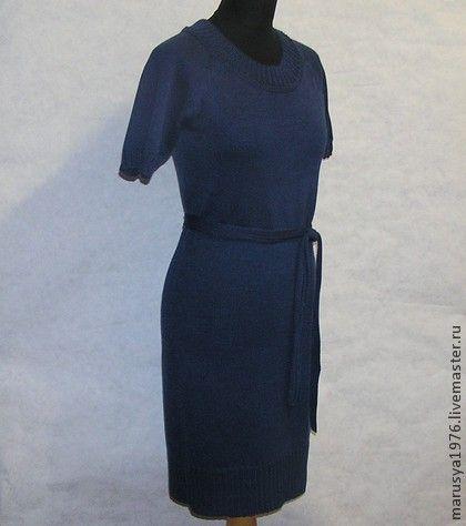 Платья вязаные машинной вязкой