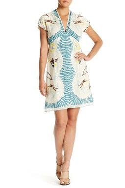 Anna Sui Waikiki V-Neck Dress