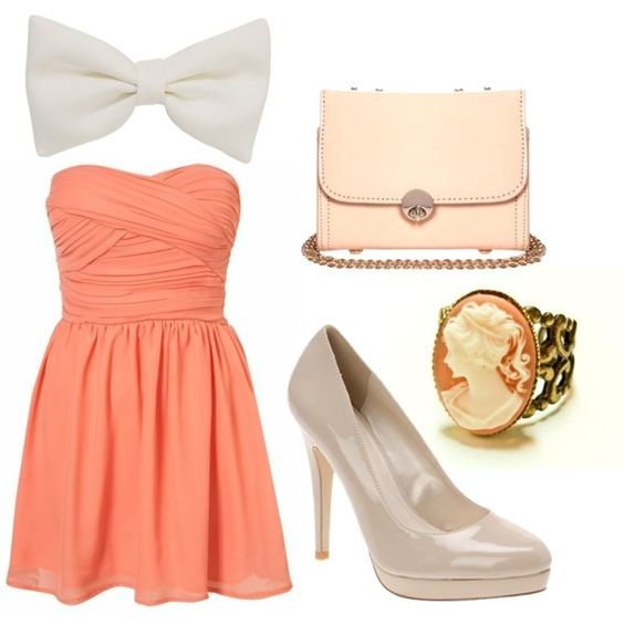 """""""Coral Cameo"""" by ucansparkle on Polyvore"""