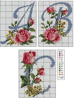 Marilda Croche: Belíssimo Monograma com Flores