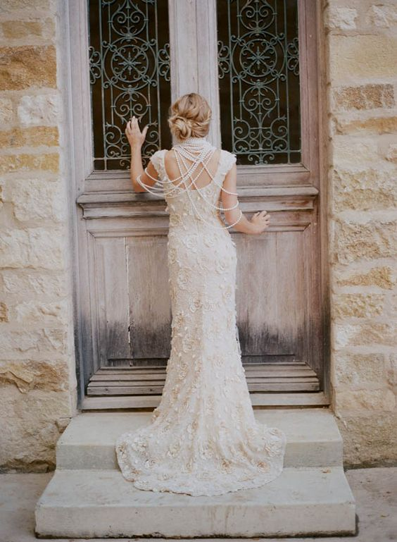 'Faye' wedding gown by Claire Pettibone  Bridal - Photography by @Elizabeth Messina