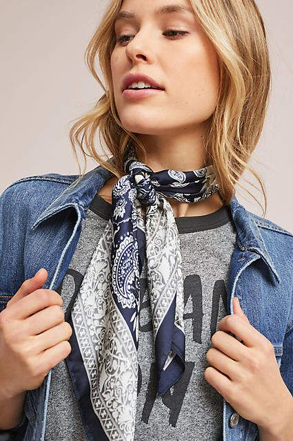 Love the scarf! Anthropologie Paisley Bandana #anthropologie #anthrofave #anthrohome #scarf #summerscarf #giftsforher #ad