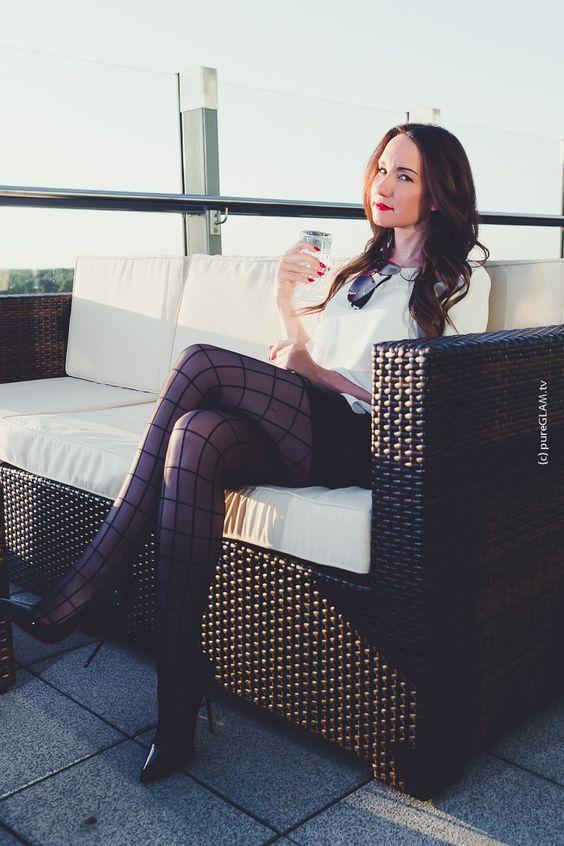 Luxus-Glamour-Blogger Penthouse Terrasse mit Meerblick - Strumpf