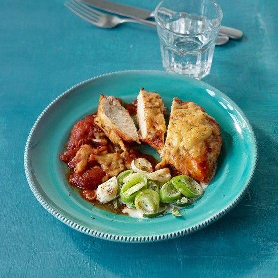 ESSEN & TRINKEN - Überbackene Hähnchenbrust Rezept