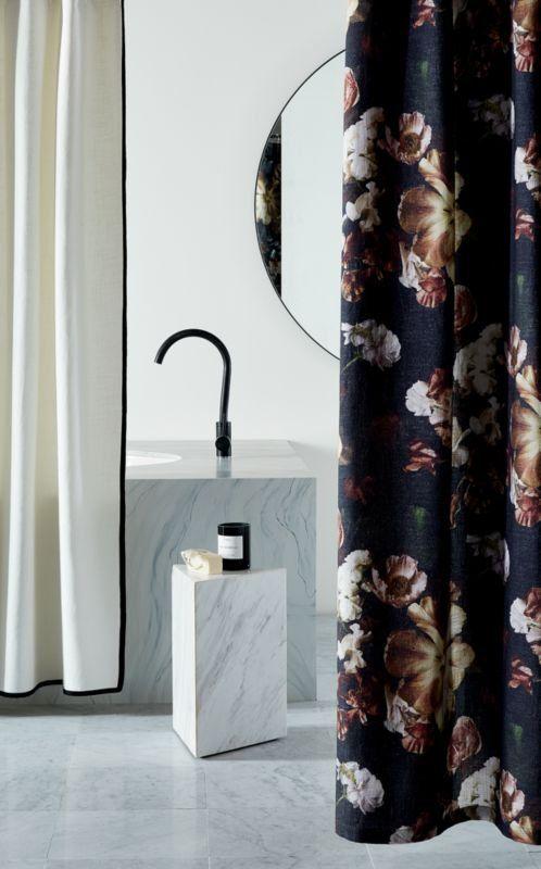 Reese Black Floral Shower Curtain Reviews Cb2 Floral Shower