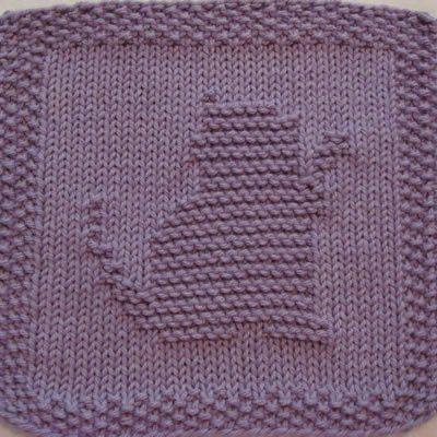 Kitty Playing Knit Dishcloth Pattern