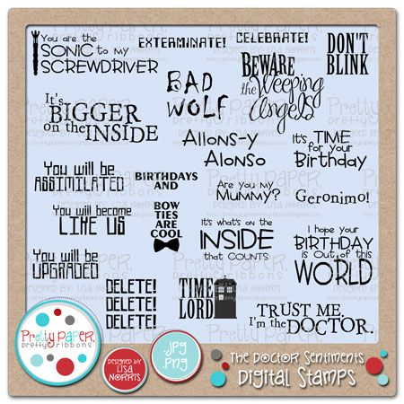 The Doctor Sentiments Digital Stamps