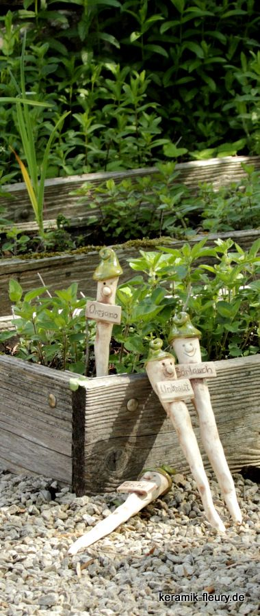 kr utergarten kr uter im garten kr utergarten pinterest garten plant markers and spikes. Black Bedroom Furniture Sets. Home Design Ideas