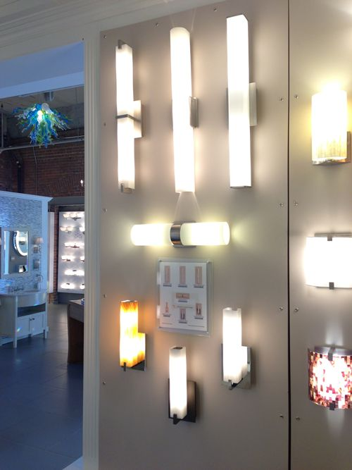 Contemporary Bathroom With Wall Sconces, Contemporary Bathroom Sconces