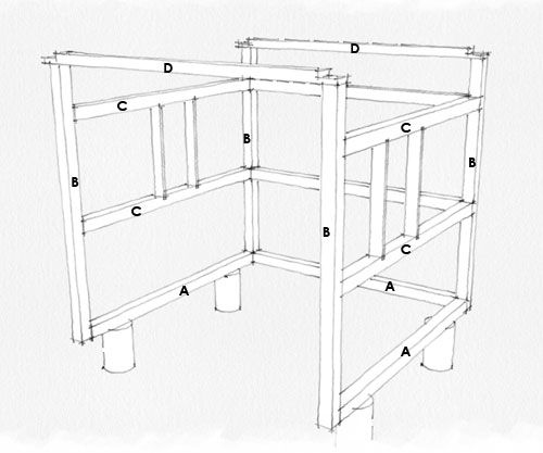 plan de montage abri de jardin pergola pinterest. Black Bedroom Furniture Sets. Home Design Ideas