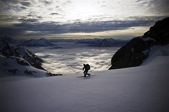 Het prachtige Neve Glacier in de staat Washington
