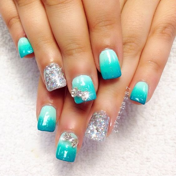 Cute Nail Designs For Prom: Single Photo