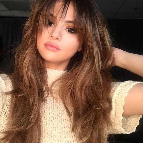 20 Different Types Of Bangs To Flatter And Frame Your Face Hair Styles Selena Gomez Hair Long Hair Styles