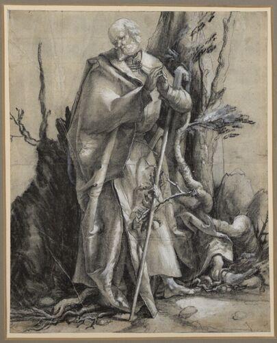 Matthias Grünewald, Moses am brennende Dornbusch, um 1516 © Albertina, Wien