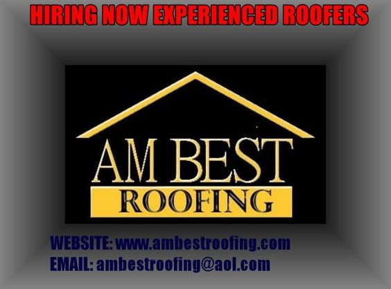 A.M. BEST ROOFING, INC We have immediate openings for experienced roofing crew who performs quality work and takes pride in their work. Must be a self-starter. Experience in Commercial, Residential, new, re-roofing, Metal, shingles, single ply heat welded, tile roofs, low slope roofs and wood repairs. MUST have own hand tools, Driver's License, and OR transportation to the shop. Call (863) 692-0870 - Stan Kulbaba