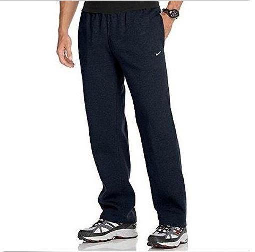 hot-selling professional new release find workmanship Nike Mens Club Open Hem Fleece Navy Blue Jogger Sweatpants ...