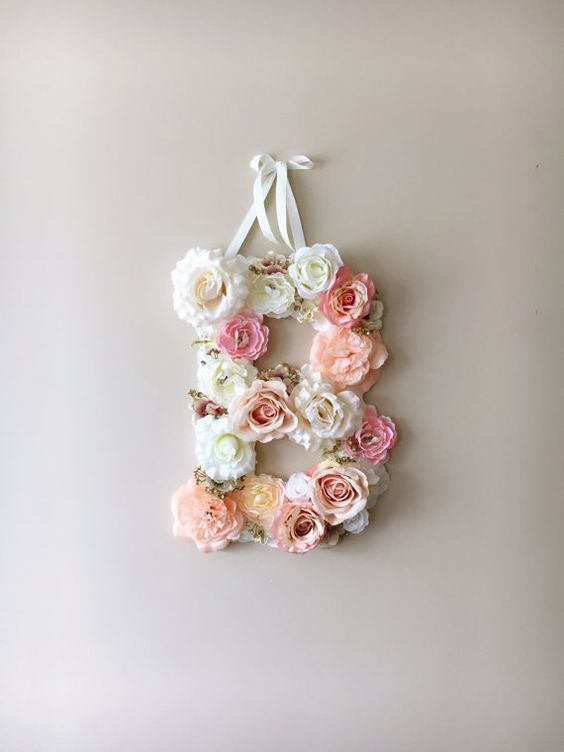 Flower Letters Floral Letters And Vintage Weddings On