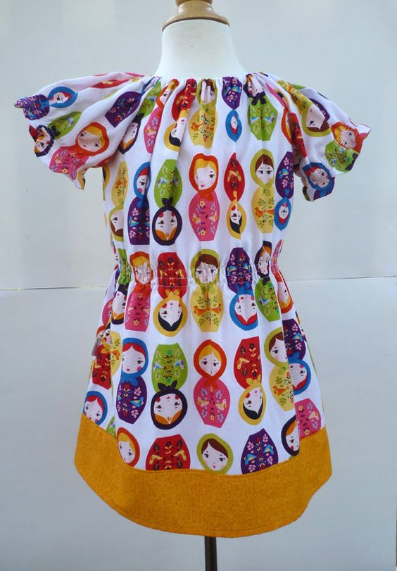 Matryoshka dress 2T  girls tunic   toddler summer by BenneboKids, $28.00